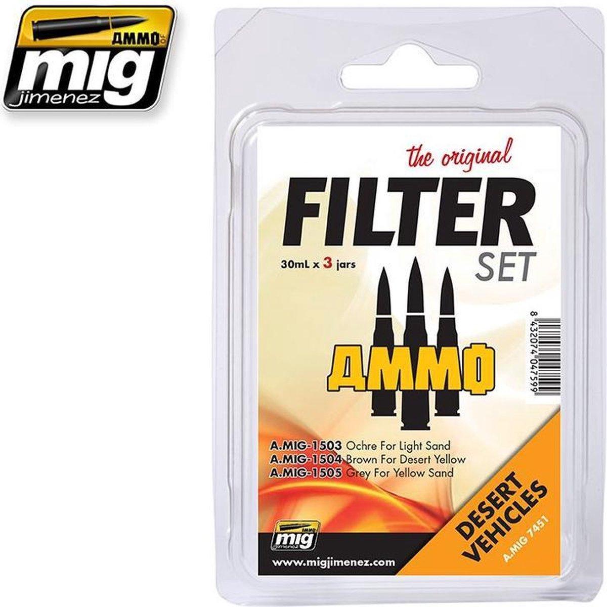 Mig - Filter Set For Desert Vehicles (Mig7451)