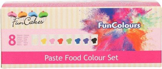 FunCakes - FunColours - Voedselkleurstof Pasta - Set van 8 Kleuren