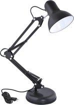 Bureaulamp - Verstelbaar - Retro - Klassiek - 1x40 watt - Zwart
