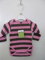 Billy&Lilly romper/body coffee-pink striped mt 74