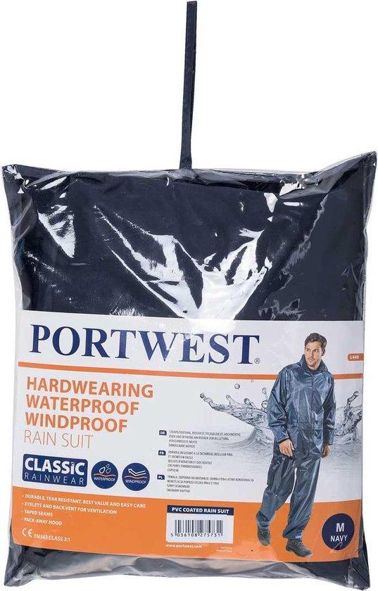 Regenpak 2 delig Donker Blauw Maat M - Portwest
