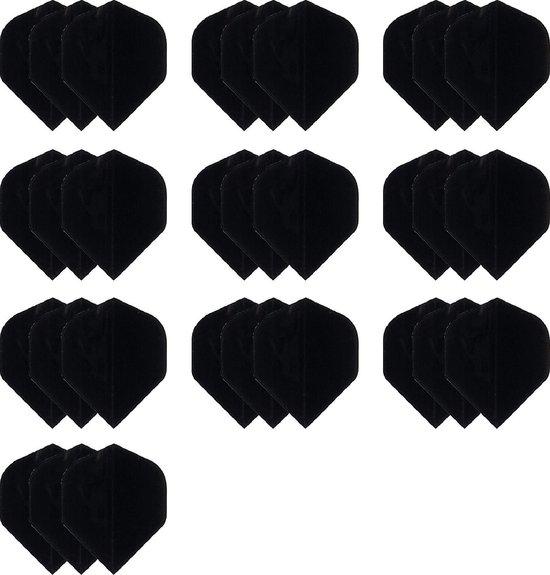deDartshop 10 Sets (30 stuks) Dragon Poly - dartflights - Multipack - Zwart