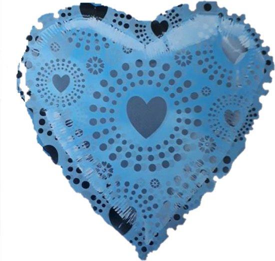 Folie ballon hart zilver 45 cm
