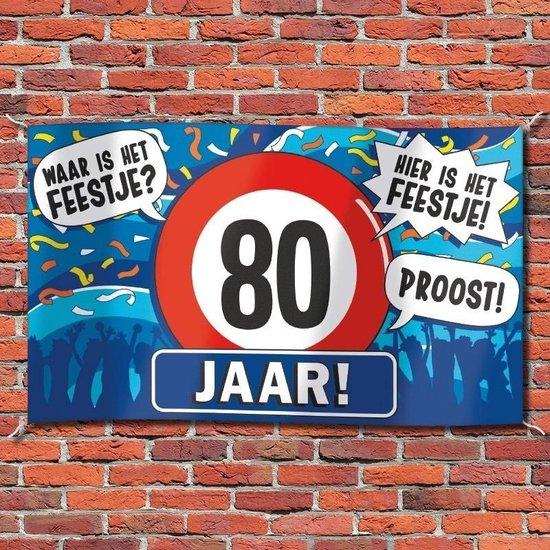 Gevelvlag verjaardag 80 jaar 100 x 150 cm