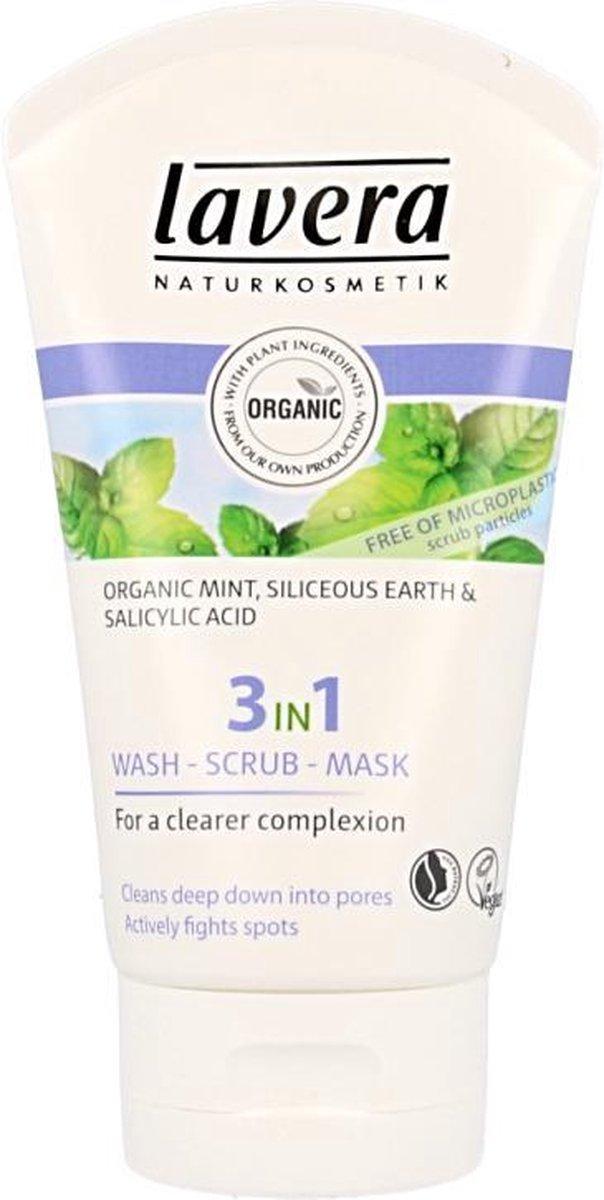 Lavera 3in1 wash,scrub,mask * 125 ml - Lavera