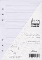 Aanvulling Lijn (Breed)120g/m²  Wit Notitiepapier voor A5 Succes, Filofax of Kalpa   Organizers 100 Pag
