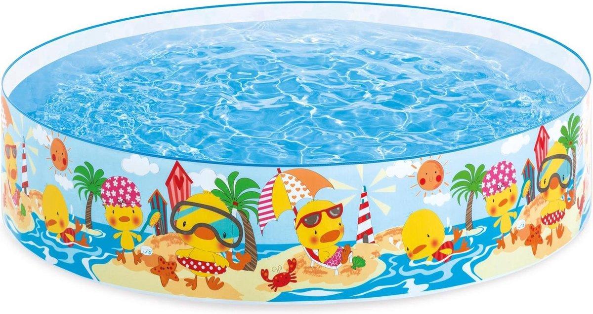 Intex Kinderzwembad met Harde Rand Eendjes - 122 cm