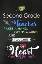 A Second Grade Teacher takes a Hand and touches a Heart