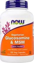 Now Foods, Glucosamine & MSM, Vegetarian, 120 vegetarische capsules