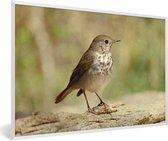 Foto in lijst - Heremietlijst in een berggebied fotolijst wit 60x40 cm - Poster in lijst (Wanddecoratie woonkamer / slaapkamer)