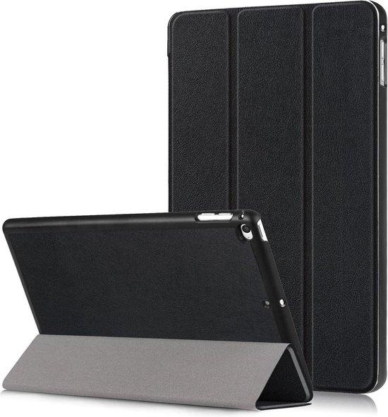 iPad Mini 4 Hoesje Book Case Tri-fold Smart Cover Hoes - Zwart