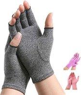 Therapeutische Reuma Artritis Compressie Handschoenen voor Pijnverlichting, Ondersteuning & Verbetering van de Bloedsomloop | Grijs Large