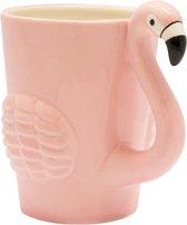 Roze flamingo beker/mok 200 ml