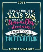 Je Crois Que Je Ne Vais Pas Pouvoir Aller Travailler Demain, Je Me Suis Fractur La Motivation