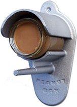 Peanutbar - Pindakaaspothouder - Buitenvogelvoer - Zilver - 11,5 x 14,5 x 21,5 cm