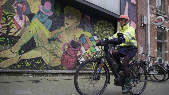 HATSOME verwarmde fietswanten (City) Dark green