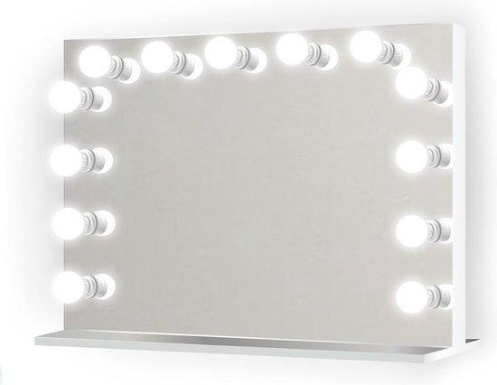 Bright Beauty Vanity hollywood make up spiegel met verlichting - 80 x 65 cm - dimbaar - zonder rand - spiegelglas
