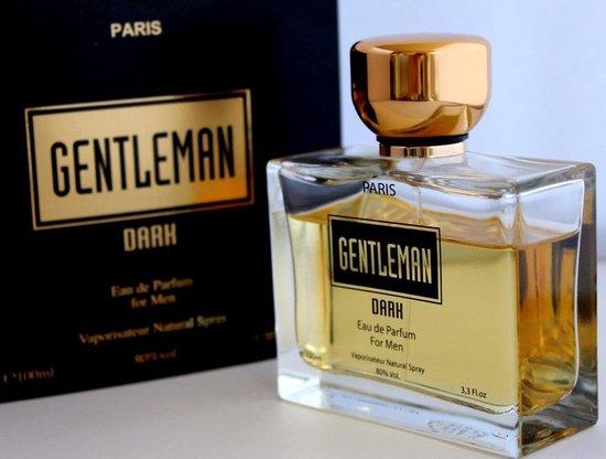 """De Gentleman Dark heren parfum """"Sterk kruidige geur"""" met Italiaanse Bergamot, Nootmuskaat, Amber. (blijft gegarandeerd de hele dag ruiken)."""