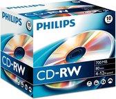 Philips CD-RW 700MB 10pcs jewel case carton box 4-12x