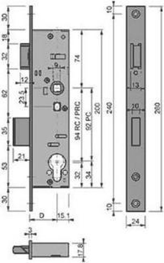 smalslot 6720 25 mm ( PC92 )