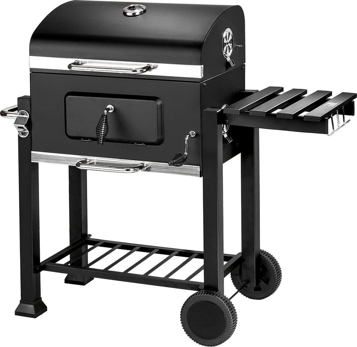 Houtskool BBQ barbecue Florian in zwart van tectake