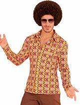 WIDMANN - Groovy jaren 70 disco blouse voor mannen - XXL - Volwassenen kostuums