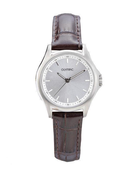 Olympic OL26DTL049 Horloge – Leer – Bruin – 29 mm