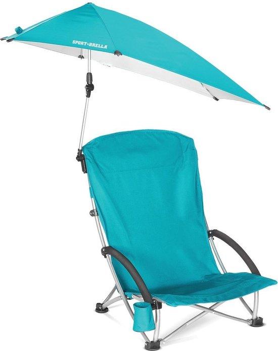 Sport-Brella Campingstoel Met Parasol - Strandstoel - Lichtblauw