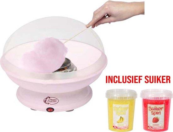 Bestron Suikerspinmachine DUE40028 - inclusief suikerspinsuiker en stokjes