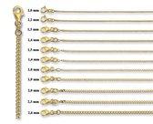 Quickjewels Gouden ketting - gourmet schakel - 1.8 mm dik en 60 cm lang - 14 krt goud