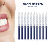 Tanden Bleekset Navulling - 10 Effectieve Bleekgel Spuiten - Effectieve Gelspuiten - Tandenbleekset - Zonder Peroxide (0%) - Witte Tanden - Veilig Thuis Tanden Bleken - Tandenbleker - E Shoppr®