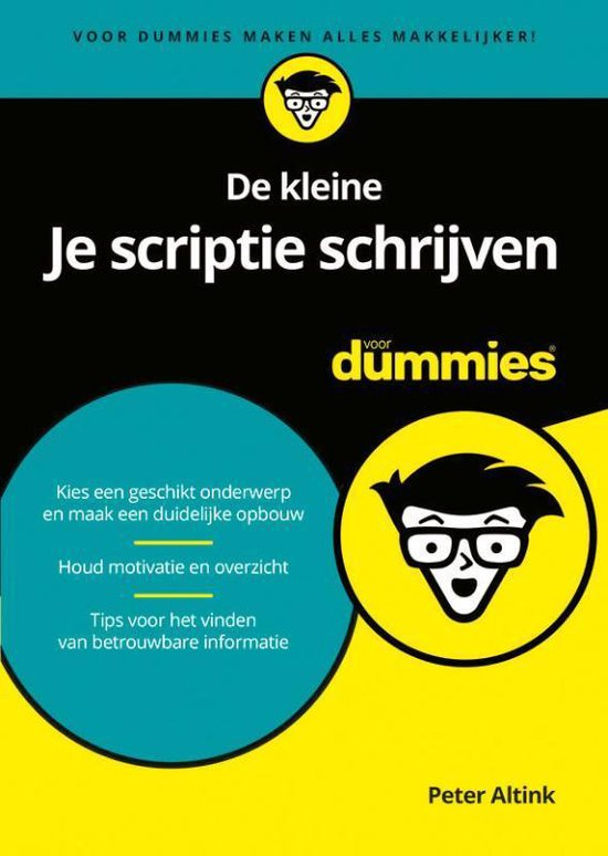 Boek cover De kleine Je scriptie schrijven voor Dummies van Peter Altink (Paperback)