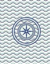 Compass Nautical Waves Notebook - 4x4 Graph Paper