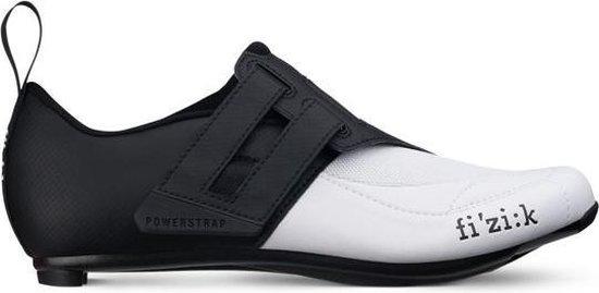 Fizik Transiro Powerstrap R4 Triathlon Schoenen, zwart/wit Schoenmaat EU 40