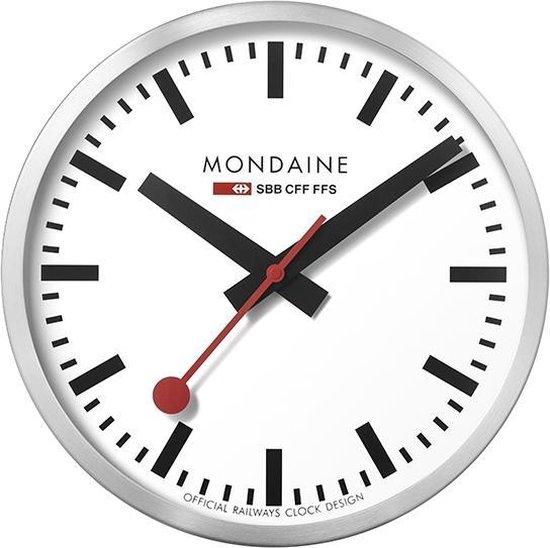 bol.com | Mondaine - Klok - Rond - Metaal - Ø40 cm - Wit