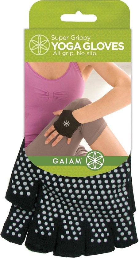 Gaiam Antislip Handschoenen - One Size - Zwart