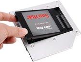 Orico Laptop optical bay caddy 9.5mm dik 2.5 Inch SSD/HDD - Zilver