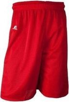 Russell Athletic 9 inch Nylon Tricot Mesh Short - Rood - Large