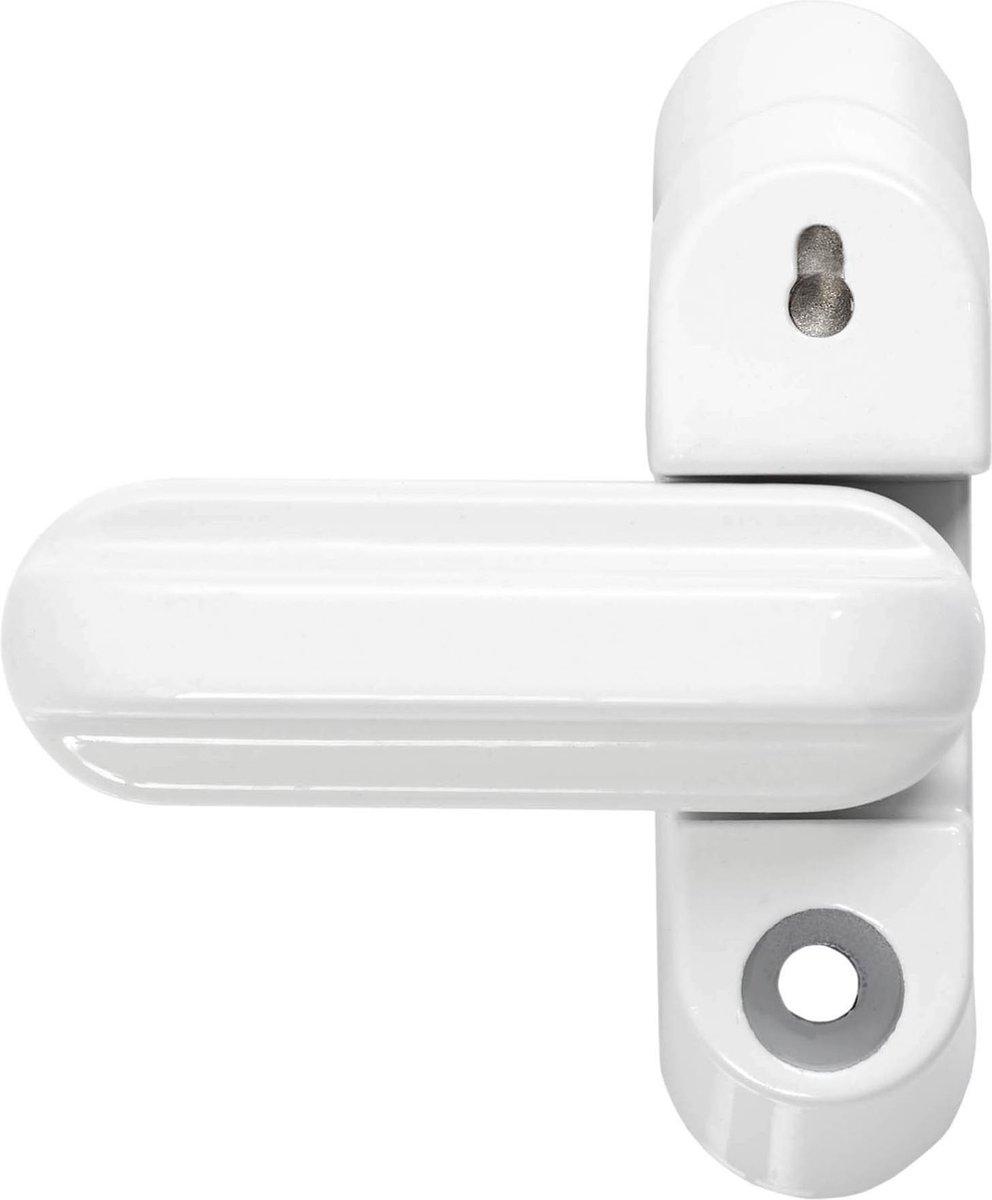 AXA bijzetgrendel voor binnendraaiende ramen en deuren - type 3018 - wit