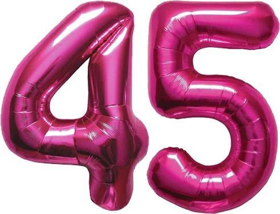 Cijfer 45 Magenta Helium 86 cm Excl. helium