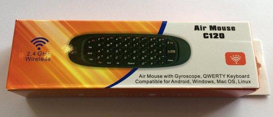 C120 airmouse + draadloos toetsenbord touchpad - Airmouse C120