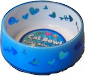 All for paws eetbak kitty love 300ml - blauw