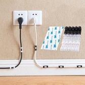 Kabel clips - 20 stuks - zelfklevend - kabel houders - transparant - kabel organizer