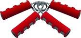 Tunturi Foam Knijphalters - Handknijper - 2 Stuks - Rood/Grijs
