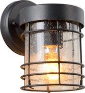 Lucide KEPPEL Wandlamp Buiten - E27 - IP23 - Zwart