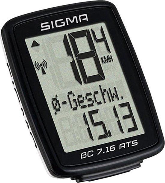 Sigma BC 7.16 Fietscomputer - 7 functies - Draadloos - Zwart - Sigma Sport