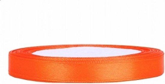 Satijn Lint, Oranje  6 mm Breed, 25 meter 1 rol