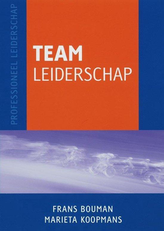 Professioneel leiderschap - Teamleiderschap - Frans Bouman pdf epub