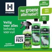 HYGENIQ® Groene terras en tuinmeubel schoonmaakmiddelen - 2X Terras aanslagreiniger (80m²) - Tuinmeubel aanslagreiniger
