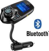 Bluetooth FM Transmitter Carkit - Handsfree Bellen / Muziek afspelen via Bluetooth /AUX /TF/SD kaart / USB Oplader - Bluetooth Handsfree Carkits / Adapter /Bluetooth Auto/ LCD Display - T10 FM Transmitter